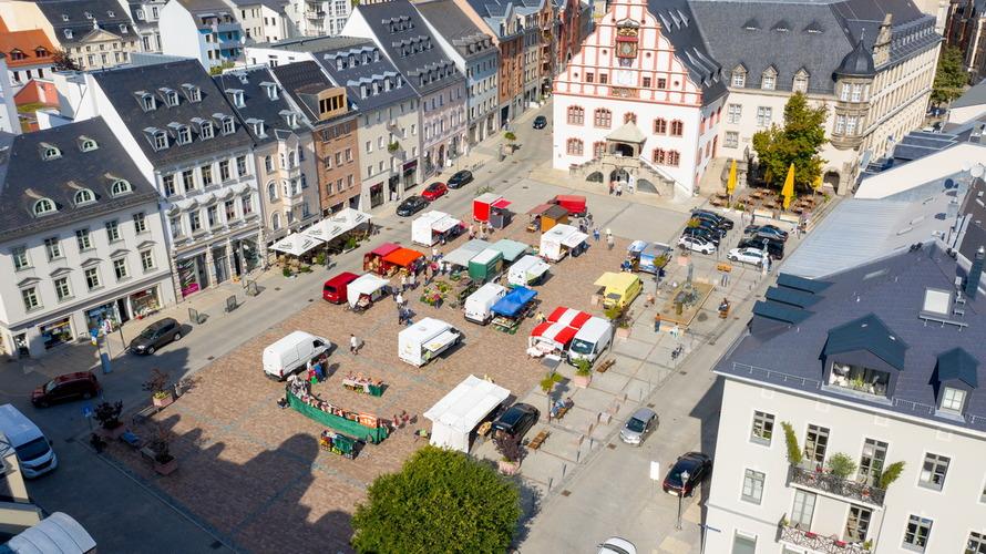 Luftbild Markttag