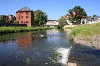 Blick zur Friedensbrücke Greiz